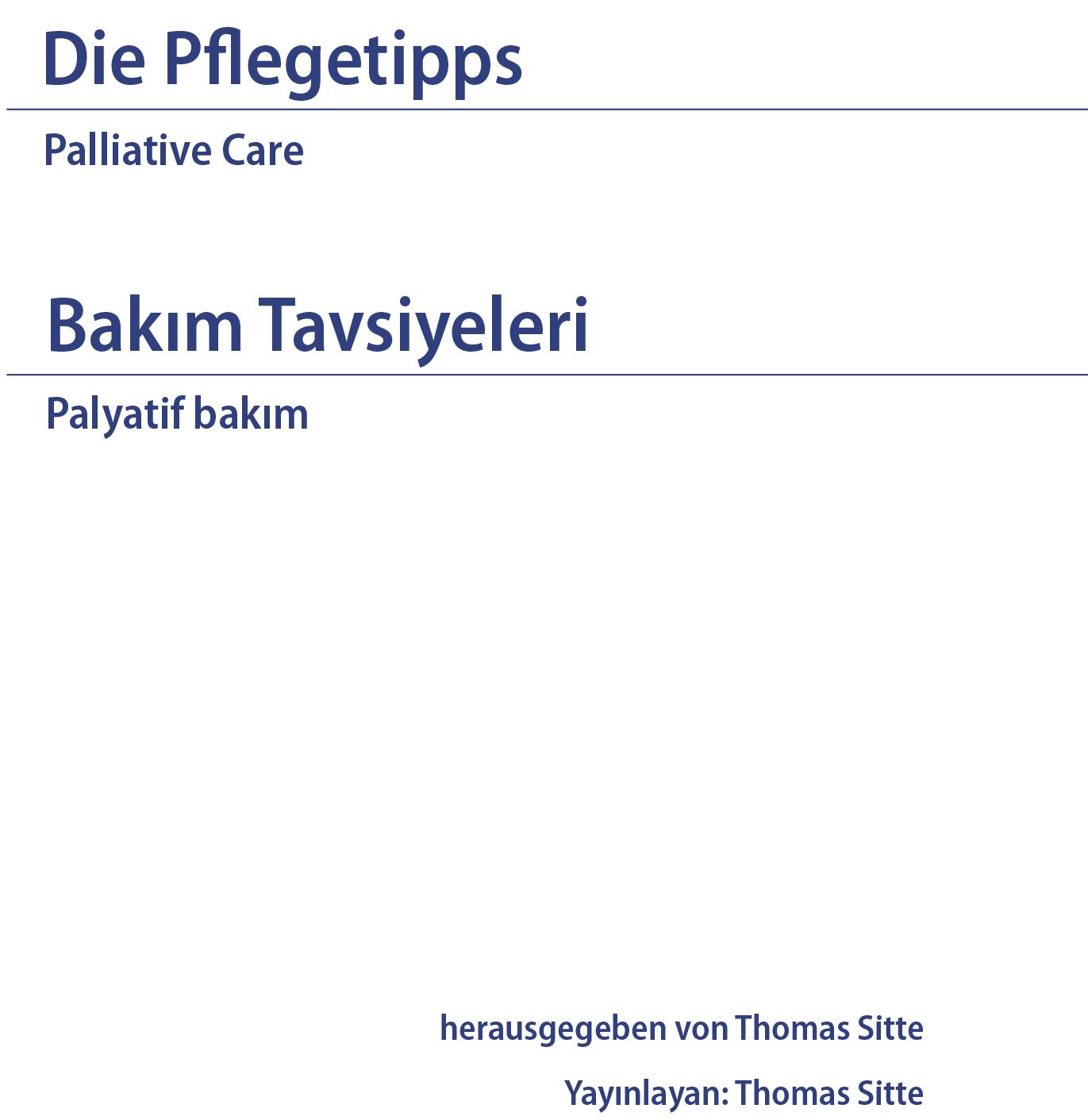 Die Pflegetipps - deutsch-türkisch